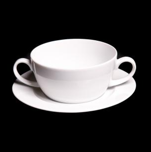 Lubiana Nadia 30cl Soup Bowl And 16.5cm Underliner